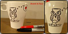 Diy Crafts For Kids, Joy, Mugs, Tableware, Totalement, Comme, Sharpies, Crayon, Kids Fun