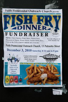 Fish Fry Event / Fundraiser Poster, Flyer or Ad | Fundraisers ...
