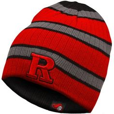 Top of the World Rutgers Scarlet Knights Drift Reversible Knit Hat - Scarlet/Black/Gray