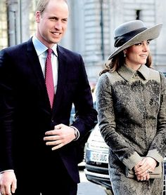 Prince William, Duke of Cambridge, Catherine, Duchess of Cambridge arrived at Westminster Abbey for the annual Commonwealth Service. || 14.3.2016