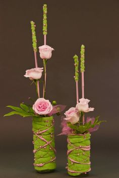 Susan Currie's design for the August 2015 meeting showing textiles with flowers, at the Victoria Flower Artists Guild.