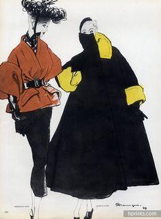 Jacques Fath (Couture) 1949 Pierre Mourgue, Christian Dior