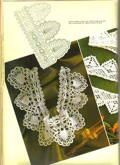 Very pretty #crochet #edgings with charts - Many of them, too!