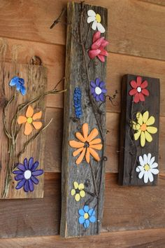rustic art flowers nature Appalachian Art by ShirleysSigns garden art projects rustic art - flowers - nature - Appalachian Art - stone art - pebble art - office decor - home decor - Christmas - Smoky - Smoky Mtn Art Rock Flowers, Tall Flowers, Flowers Nature, Rustic Flowers, Nature Nature, White Flowers, Stone Crafts, Rock Crafts, Diy And Crafts