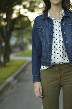 31 Days, 31 Ways Day 14 - Greater Than Rubies Polka Dot Blouse, Polka Dots, Olive Pants, Greater Than, Beautiful Outfits, What To Wear, Naked, Style Inspiration, Fashion Outfits