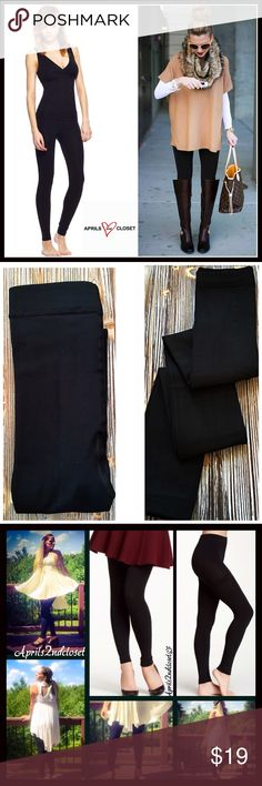 84dfe6105f925 BLACK FLEECE LINED LEGGINGS FOOTLESS TIGHTS FLEECE LINED LEGGINGS FOOTLESS  TIGHTS COLOR- JET BLACK   Super soft