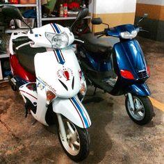 O melhor do ONDE TEM UMA TEM DUAS é quando é na nossa garagem ... #use_scooter #scooter #scooterista #paz_no_transito #onde_tem_1_tem_2 #Honda #Lead
