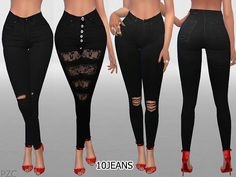 A new collection of 10 different ripped skinny jeans for your ladies^^^^ Found in TSR Category 'Sims 4 Female Everyday'