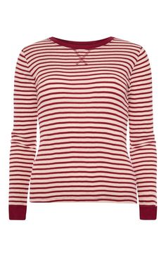 Red Stripe Thermal Top