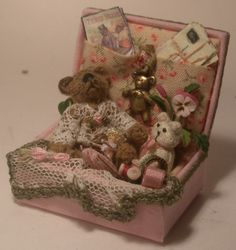 Filled Toy Box Pink by Paulette Svec, Swan House