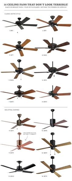 14 Ceiling Fans that Don't Look Terrible!   Making it Lovely