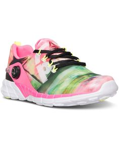 meet a9170 e7402 Reebok Big Girls  ZPump 2.0 Running Sneakers from Finish Line   Reviews -  Finish Line Athletic Shoes - Kids - Macy s