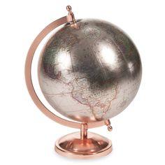 Globe terrestre H 29 cm COPPER GLACE | Maisons du Monde