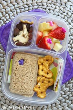 A Week of Lunchbox Ideas - | packed in @EasyLunchboxes containers via FamilyFreshMeals.com
