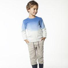 CARREMENT BEAU Sweat-shirt en molleton garcon bleu - Kids around