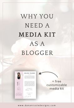 Get your free customizable media kit and find out how having a media kit can help you make money as a blogger.