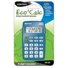 Paquete de 10 calculadoras Eco-calc básica 8 dígitos memoria $640MXN
