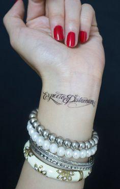 Hermans street clothes  Tattoo tatuaggi  Expecto Patronum spell SET of 3  Temporary Tattoo