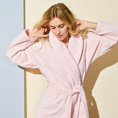 Step out of shower and into luxury with Yves Delorme's Plush Etoile Shawl Collar Bath Robe. Cotton terry is mixed with natural modal for extra Cotton, ModalCoordinating Etoile Bath TowelsUnisexBelow Knee LengthExtra Heav. Yves Delorme, Peignoir, Cute Dresses, Party Dresses, Summer Dresses, Autumn Winter Fashion, Winter Style, Blouses For Women, Work Wear
