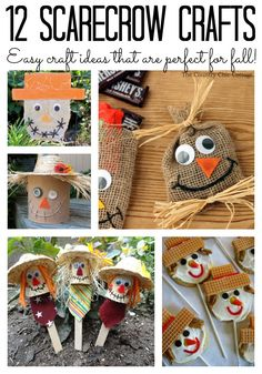 These great scarecrow craft ideas are perfect for fall! Add them to your home today!
