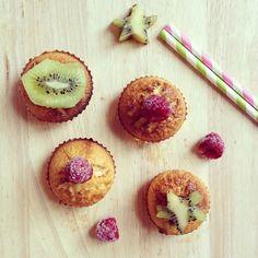 Muffins kiwi & chocolat blanc
