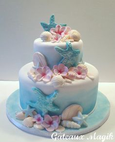 wedding cake  sea shell