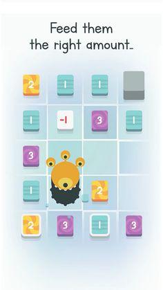 Num Yumms (by The Paper Robot) - Touch Arcade Grid Game, Game Gui, Paper Robot, Game Concept Art, Game Assets, Game Ideas, App Ui, Minimalist Art, Game Design