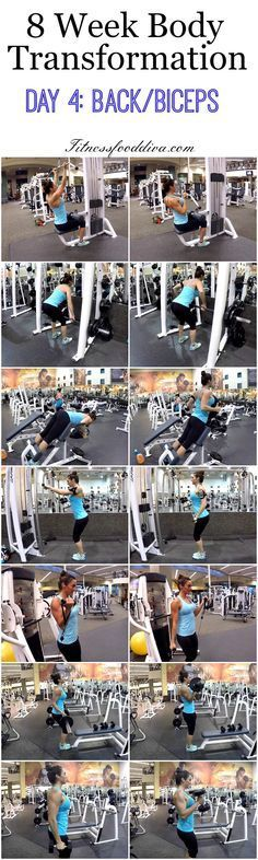 8 Week Body Transformation: Day 4 Back and Biceps