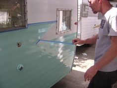 Amys VintageTrailers: Meet Polka Dot Rosie how to paint a vintage trailer