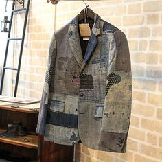 Jackets certainly are a very important component to every single man's set of clothes. Men will need jackets for several circumstances and several climate conditions Recycled Fashion, Recycled Clothing, Revival Clothing, Masculine Style, Mens Winter Coat, Boro, Altered Couture, Jeans Denim, Looks Style