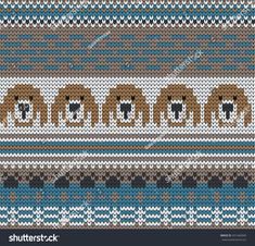 Find Knitted Varicolored Seamless Pattern Dogs stock images in HD and millions of other royalty-free stock photos, illustrations and vectors in the Shutterstock collection. Animal Knitting Patterns, Fair Isle Knitting Patterns, Fair Isle Pattern, Knitting Charts, Stuffed Animal Patterns, Knitting Stitches, Free Knitting, Tejido Fair Isle, Dog Chart