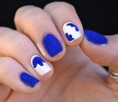 + 40 Fotos de uñas decoradas con terciopelo – velvet Nail art   Decoración de Uñas - Manicura y Nail Art - Part 3