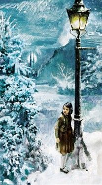 """""""Lucy and the Lamppost"""" by Jim Salvati - Limited Edition on Canvas."""
