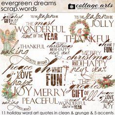 Evergreen Dreams Scrap.Words