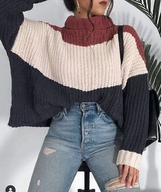 outfit inspo colorful jumper with high waist jeans. Cute outfit ideas for . - outfit inspo colorful jumper with high waist jeans. Cute outfit ideas for High School Outfits colorful Cute fall High Ideas Inspo jeans Jumper outfit waist Source by - Teenage Outfits, Winter Fashion Outfits, Look Fashion, Vogue Fashion, Daily Fashion, Everyday Fashion, Fashion Beauty, Casual Winter Outfits, Trendy Outfits