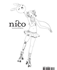 nico - interviews and fashion (Issue 03 - Winter 2008). Cover Illustration by Makiko Sugawa. Splitcover(8)