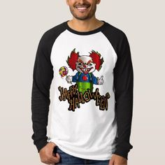 #Creepy Clown Halloween Graphic Tee - #halloween #party #stuff #allhalloween All Hallows' Eve All Saints' Eve #Kids & #Adaults
