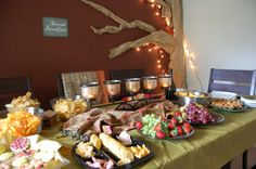 """Decorations for Lord of the rings party. Love the """"2nd Breakfast"""" sign in the back"""