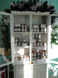 Jam & Jelly Lady's holiday jam display! - in Lebanon, Ohio