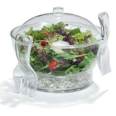 Sweet Home Collection Frigidaire 6.5 Quart Acrylic Ice Chilled Serving Bowl