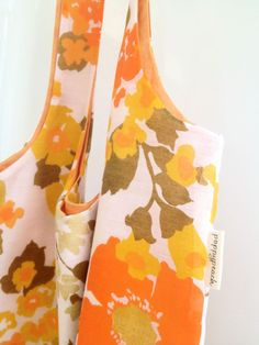 tote bag repurposed from a curtain