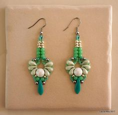 Art Nouveau Zoliduo Earrings Pattern