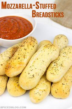 Mozzarella-Stuffed Italian Breadsticks