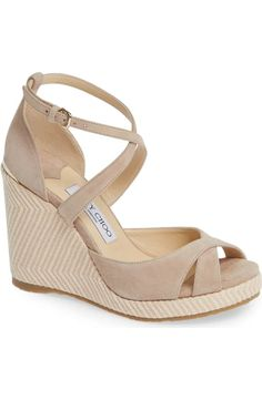 Shop the latest women's nude wedges in neutral shades of beige, pink and brown. Nude Sandals, Nude Shoes, Strappy Wedges, Women Sandals, Shoes Women, Burberry, Gucci, John Galliano, Karl Lagerfeld