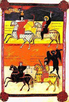 Beato de Fernando y Sancha. Los cuatro jinetes del Apocalipsis