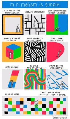 Minimalism Lifestyles - http://www.incidentalcomics.com/2013/01/minimalism-is-simple.html#links Incidental comics by Grant Snider