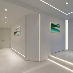 16 Interior Modern Lighting Designs – Modern Home Hall Lighting, Linear Lighting, Interior Lighting, Cove Lighting, Lighting Ideas, Modern Recessed Lighting, Hidden Lighting, Gallery Lighting, Modern Lighting Design