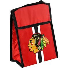 NHL Chicago Blackhawks Velcro Lunch Bag by Forever Collectibles.  5.20. Chicago  Blackhawks Velcro Lunch e9e4ad242