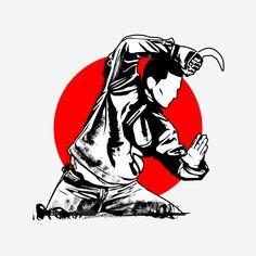 Joker Poster, Martial Arts Weapons, Fighting Poses, Creative Background, Wallpaper Gallery, Black White Art, Samurai Warrior, Fan Art, Background Templates