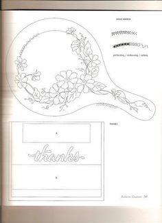 Moldes - xenaciro P M - Picasa Web Albums Vellum Crafts, Vellum Paper, Paper Cards, Diy Paper, Vintage Embroidery, Embroidery Patterns, Parchment Cards, Picasa Web Albums, Digi Stamps